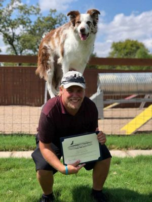 Corey with Certificate